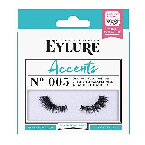 8809e6d3db9 Amazon.com : Eylure Accents False Lashes, Style No. 003, Reusable, Adhesive  Included, 1 Pair : Industrial & Scientific
