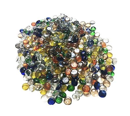 Dashington Flat Mixed Color Glass Gems, Marbles by Dashington (Image #1)