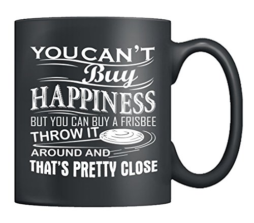 Ultimate Frisbee Coffee Mug - Ultimate Frisbee Happinees Mug Ceramic, Tea Cups Black, Perfect Gifts For Friends(Coffee Mug Black) (Black)