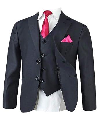 Boys Italian Cut Formal Grey Suit Pageboy Wedding Prom Communion Boy Suits Gray