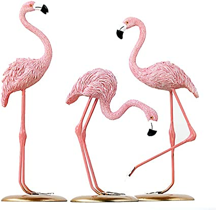 Pink Flamingo Ornaments Figurines Garden Lawn Home Table Decoration Ornament
