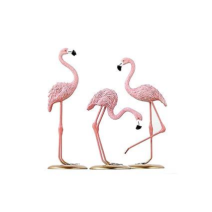 Amazon.com: Figura decorativa de flamenco rosa para ...
