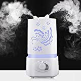Efanr Air Humidifier Aroma Diffuser with LED Light Carve Pattern...