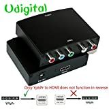 Udigital YPbPr Component RGB + R/L to HDMI Video Audio Converter v1.3 support LPCM for HDTV, DVD, PSP, Xbox 360 and Wii,Metal Casing (Comes with AC Adapter)