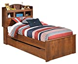Ashley Furniture Signature Design - Barchan Casual Bookcase Panel Trundle Bedset - Twin Size Bed - Medium Brown