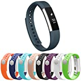 Vancle Fitbit Alta Bands, Newest Adjustable Replacement Bands for Fitbit Alta/ Fitbit Alta band/ Fitbit Alta Bands (with Metal Clasp,No Tracker)(Slate,Large)