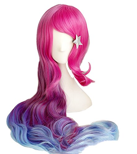 Arcade Miss Fortune Wig Costume Accessories Long
