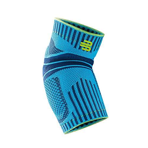 Elbow Braces Medicine Sports - Bauerfeind Sports Elbow Support - Breathable Compression Elbow Brace - Contoured Pads for Inner and Outer Elbow Protection Against Joint Pressure - Air Knit Fabric Washable & Durable (Rivera, Medium)