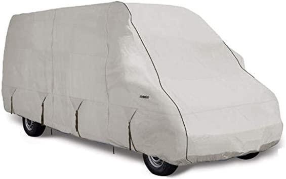 Tan and Gray Goldline Truck Camper Covers by Eevelle Waterproof Fabric