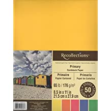 Recollections Cardstock Paper, 8 1/2 X 11 Primary Colors - 50 Sheets
