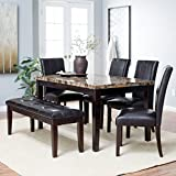 Finley Home Palazzo 6 Piece Dining Set with Bench Review