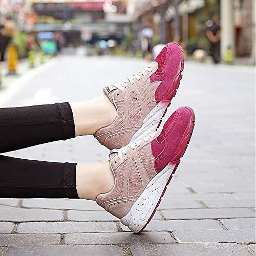 ZHZNVX Wine Scarpe Sneakers Comfort Heel Summer Flat PU da Wine poliuretano Grey donna rrwS4
