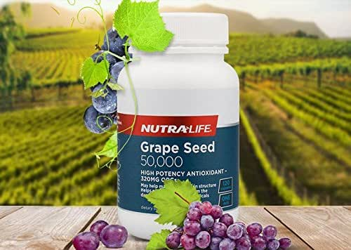 Nutralife Grape seed 50,000 120 caps High-potency antioxidant with 320mg OPCs.