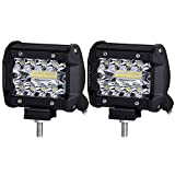 Best Led Bar Lights - Liteway LED Pods, 2pcs 140W Triple Row LED Review