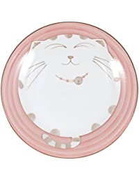 Favor 2X Japanese Kids Porcelain Dish Plate Pink Cat Hy277/P reviews