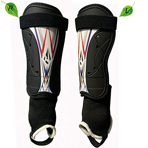 Rawxy Soccer Football Shin Guards with Super Protective Flexible Low-Profile,Great for Adult,Youth, Junior