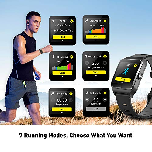 DR.VIVA GPS Men Activity Tracker GPS Running Screen Watch Rate/Sleep/Step/Counter Waterproof GPS Fitness Watch