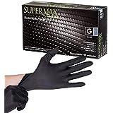 Luva Supermax Nitrílica Preta 100 Unidades Grande
