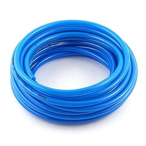 8mm(OD) x 5mm(ID) PU Air Tubing Pipe Hose 10 Meter Blue 10M (1 8 Air Compressor Fitting)