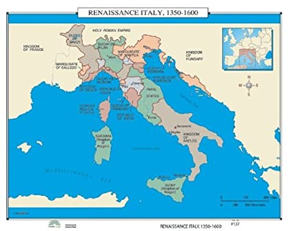 Amazon.com: World History Wall Maps - Renaissance Italy: Home & Kitchen