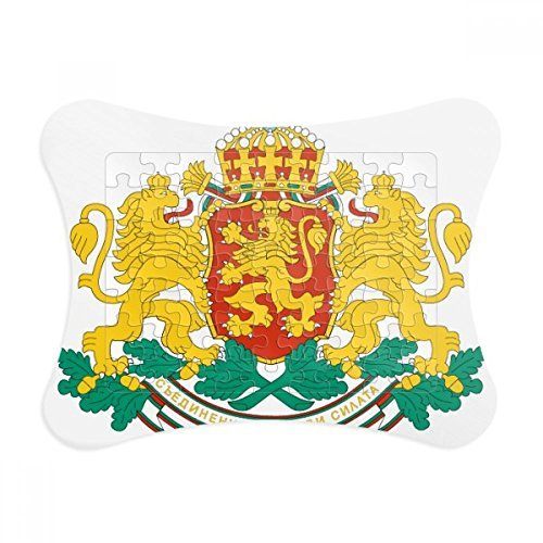 Bulgaria Paper (Sofia Bulgaria National Emblem Paper Card Puzzle Frame Jigsaw Game Home Decoration Gift)