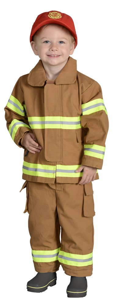 Aeromax Jr. Fire Fighter Bunker Gear, Tan, Size 18 Month by Aeromax