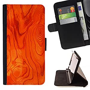 - Wood Imitation Pattern Natural - Estilo PU billetera de cuero del soporte del tir???¡¯????n [solapa de cierre] Cubierta- For Samsung Galaxy Note 4 IV £¨ Devil Case £©