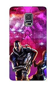 Flexible Tpu Back Case Cover For Galaxy S5 - Liara Toni And Commander Shepard Mass Effect