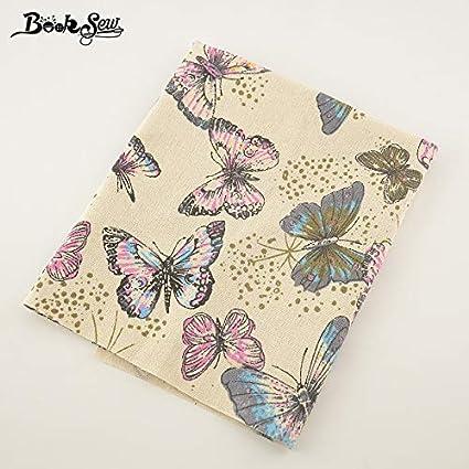 Amazon.com: Booksew algodón lino hermoso diseño mariposa ...
