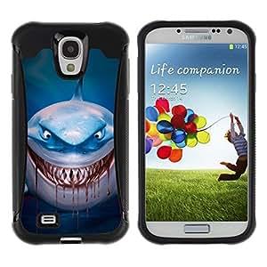 Suave TPU GEL Carcasa Funda Silicona Blando Estuche Caso de protección (para) Samsung Galaxy S4 IV I9500 / CECELL Phone case / / Evil Blood Blue Dive Character Cartoon /
