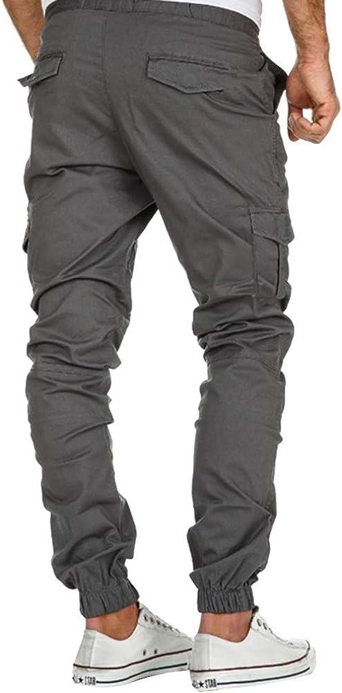 da golf casual multi-tasche pantaloni sportivi in cotone pantaloni cargo da uomo slim fit Vanvene da jogging
