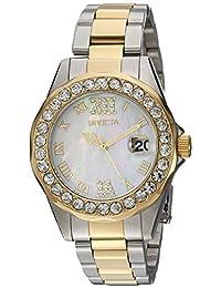 Invicta Women's Sea Base Gold-Tone Steel Bracelet & Case S. Sapphire Quartz White Dial Analog Watch 20391