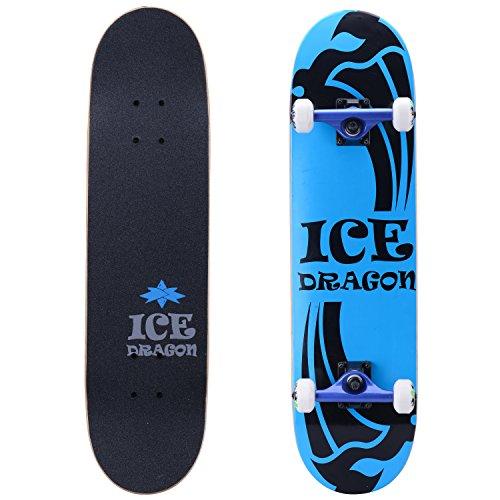 (Ice Dragon 31 Inch Cruiser Trick Skateboard For Beginner)