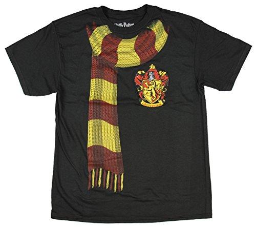 Bioworld Harry Potter Big Boys Gryffindor Scarf T-shirt