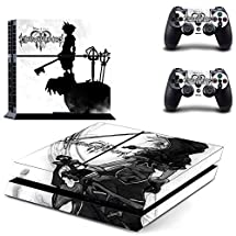 Adventure Games - PS4 ORIGINAL - Kingdom Hearts 3 - Playstation 4 Vinyl Console Skin Decal Sticker + 2 Controller Skins Set