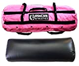 Iron Core Athletics Sandbag Training Workout System – Large Pink Outer Shell with 80lb Capacity. Includes One Universal Internal Filler with 80lb Capacity