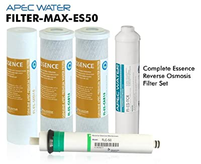 APEC Top Tier 5-Stage Ultra Safe Reverse Osmosis Drinking Water Filter System (ESSENCE ROES-50) by APEC Water Systems
