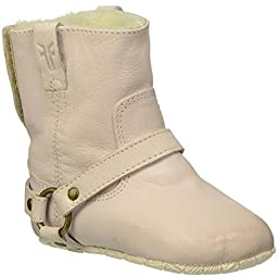 FRYE Unisex Baby Harness Booties Shearling-CL - LIGHT PINK - 1 Infant