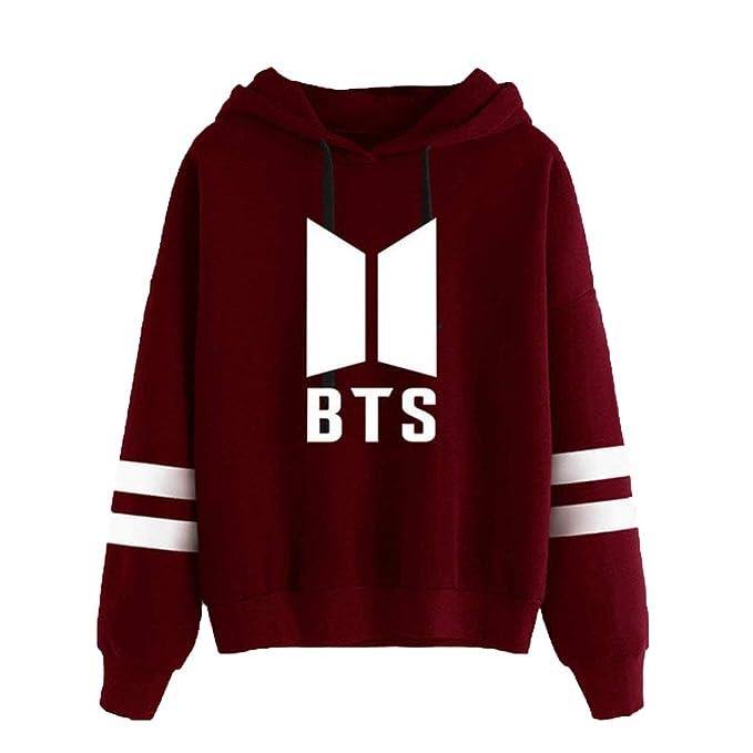 2018 Hoodies Rapper Trendy Hoodie Pullover Sweaters Abrigos De Manga Larga con Capucha Tops Blusa Vino Rojo XL: Amazon.es: Ropa y accesorios