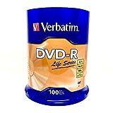 Verbatim DVD-R 4. 7GB 16X Spindle Life Series - 100-Pack