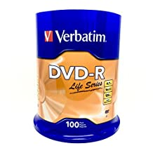 Verbatim DVD-R 4. 7GB 16X Spindle Life Series - 100-Pack