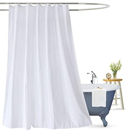 Ordinaire Aoohome Fabric Shower Curtain 72x78 Inch, Extra Long Shower Curtain Liner  For Hotel With Hooks