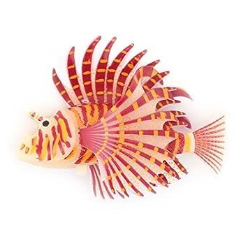 DealMux acuario ventosa simulado flotante Moviendo la cola de los pescados del ornamento pez león: Amazon.es: Productos para mascotas