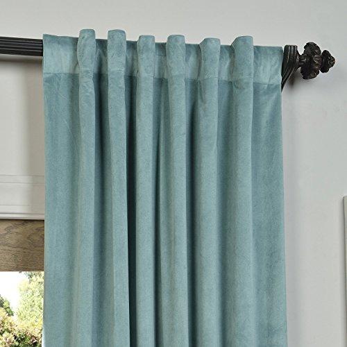 Half Price Drapes Vpch 140803 108 Signature Blackout Velvet Curtain Aqua Mist 50 X 108 Buy