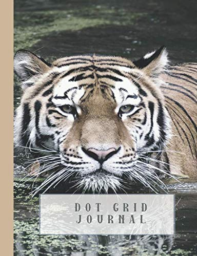Dot grid Journal: Journaling notebook for the nature and animal lover - Tiger in water