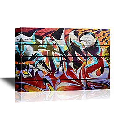 Canvas Wall Art - Colorful Graffiti - Gallery Wrap Modern Home Art | Ready to Hang - 16x24 inches