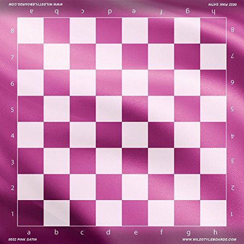 Pink Satin - Full Color Vinyl Chess Board
