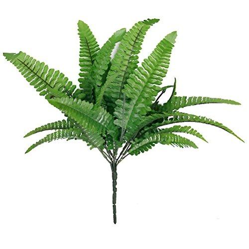 Fenical Kunststoff Farn Blätter Pflanze für Hochzeitsdekoration (grün)