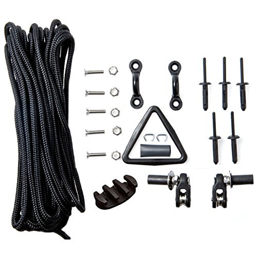 Deluxe Kayak Kit - Deluxe Kayak Anchor Trolley Kit with Harken Pulleys from Yak Gear