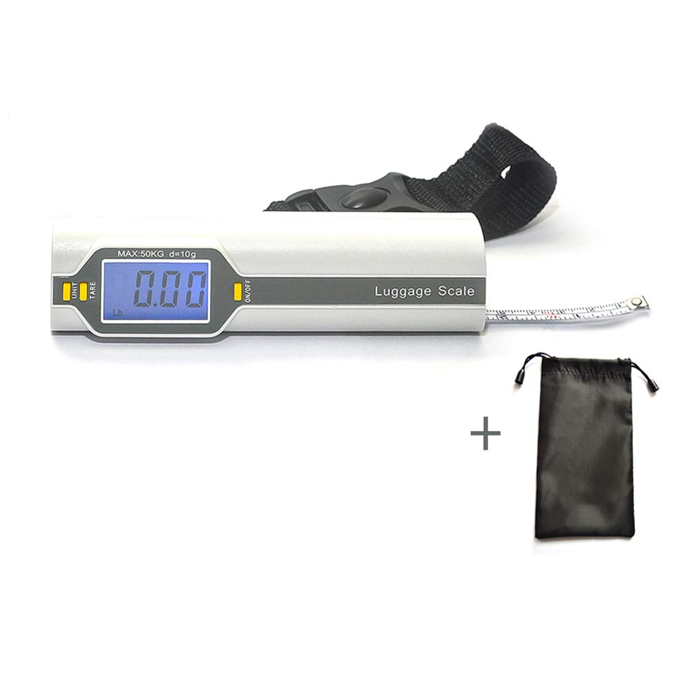 Bien Venida Digital Hanging Luggage Weight Scale with Measure1 Pack CH-150/100LB Capacity